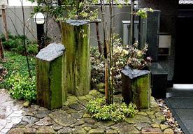 修景 風格のある六方石の景石のイメージ