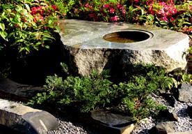 手水鉢・ミカゲ石磨きのイメージ